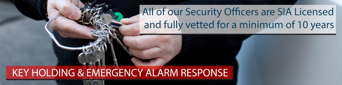key holding, security guards, region security